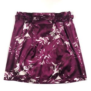 EUC Theory Purple & White A Line Skirt-Size 2